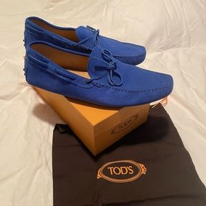 Tod's Suede Gommini Drivers Loafers